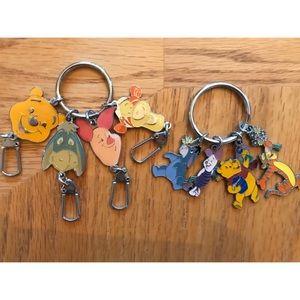 Disney Winnie the Pooh & Friends Keychains
